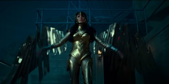 Gal Gadot as Wonder Woman with Golden Suit in Wonder Woman 1984 trailer