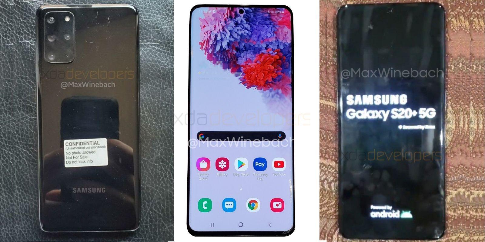 Samsung Galaxy S20 leaks