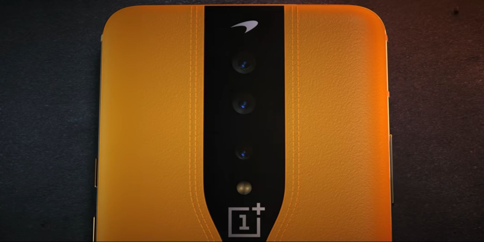 OnePlus Concept One phone rear cameras with leather build