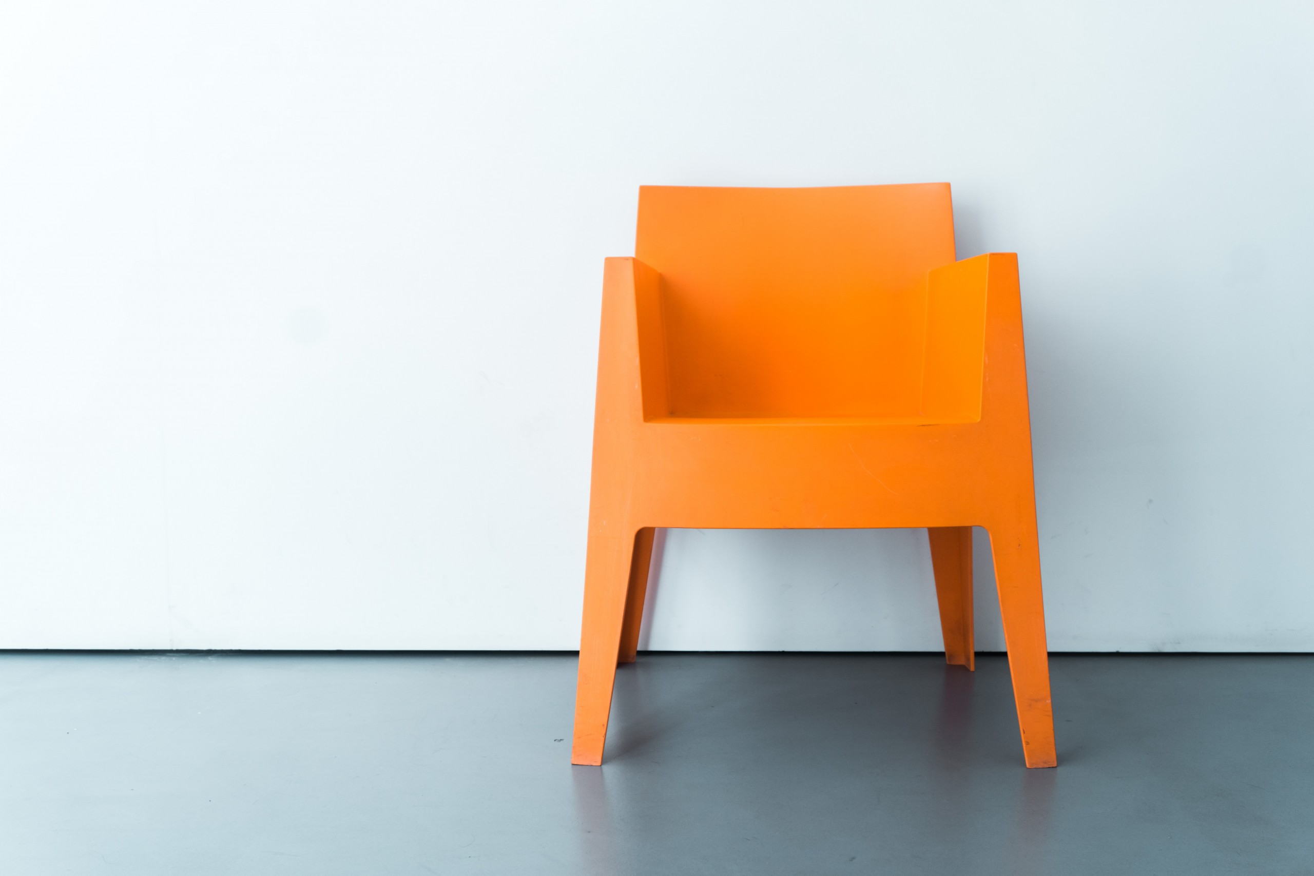 Photo of an orange chair