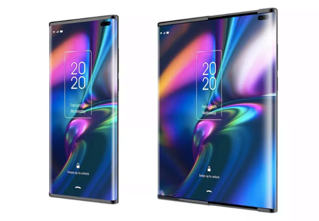 TCL foldable screen display tech