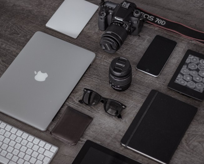 Photo of tech gadgets on a table