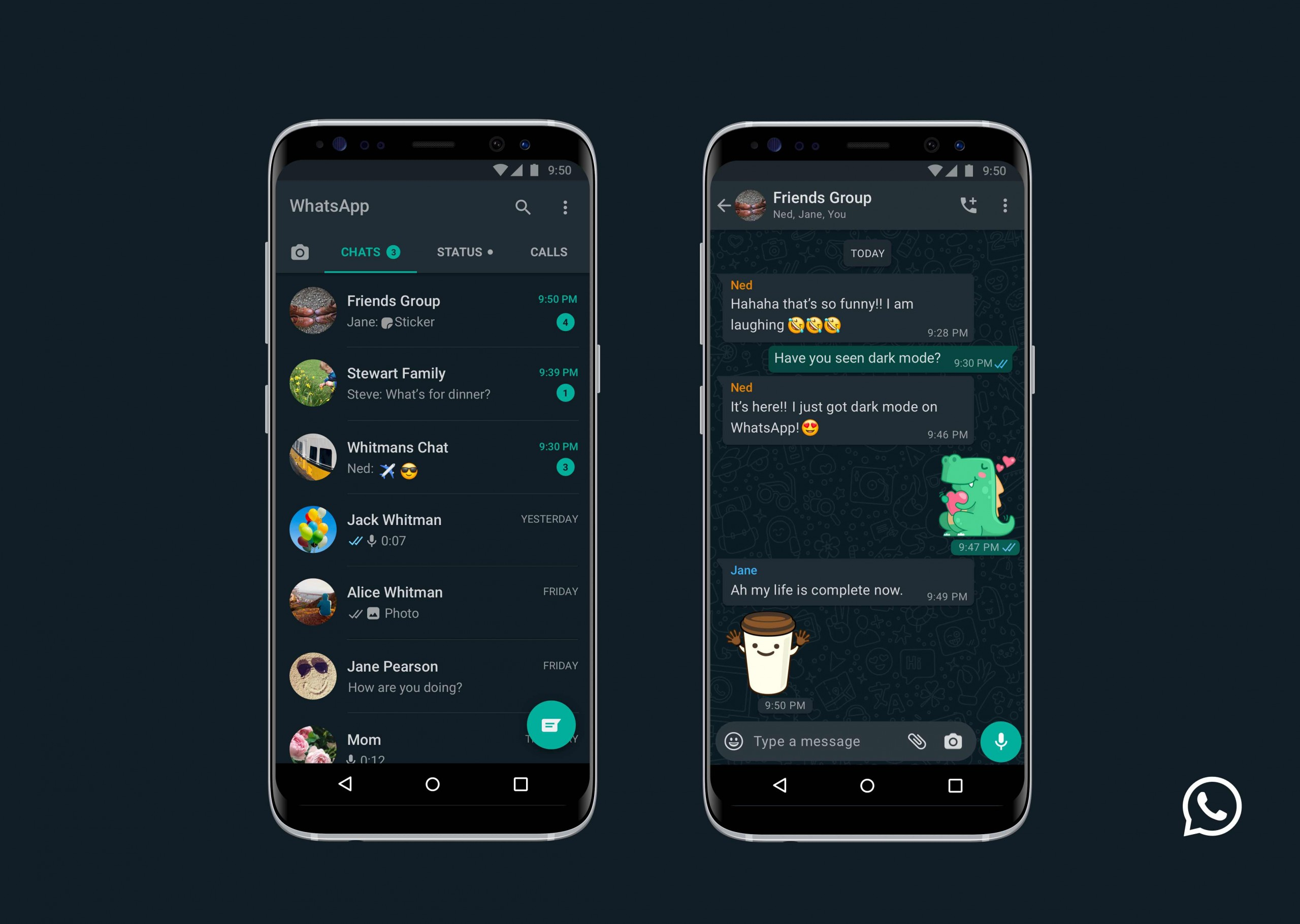 WhatsApp finally gets dark mode on Android and iOS