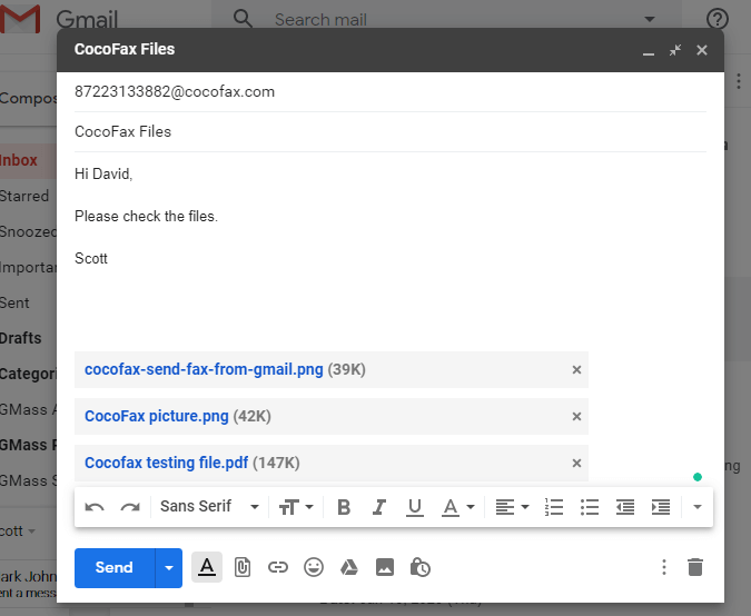 cocofax email in gmail