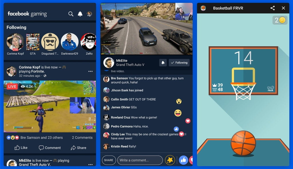 Facebook launches a new dedicated gaming app on Android