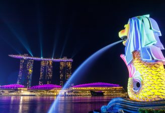 Singapore Lion Fountain photo
