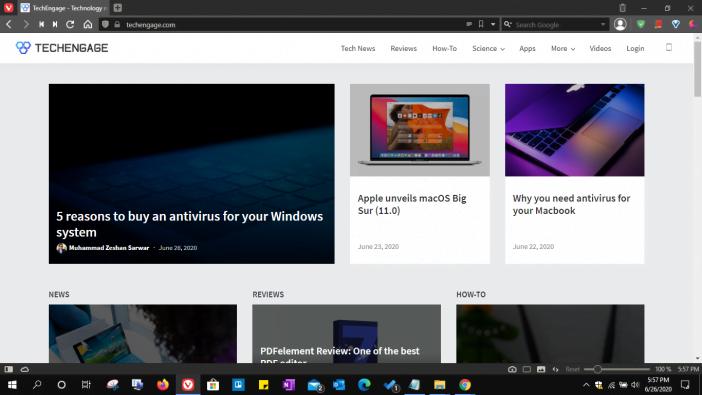 Vivaldi Browser Screenshot
