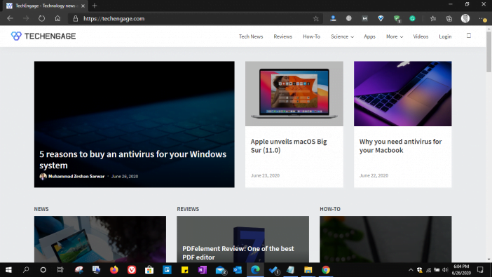 Microsoft Edge Browser Screenshot