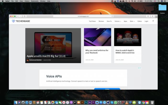 Safari Browser Screenshot