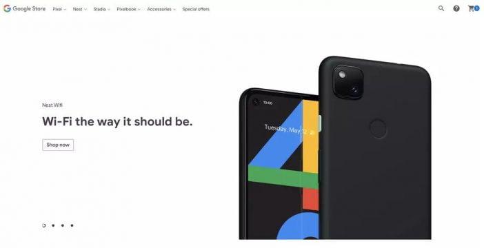 Google Pixel 4A leaked Google Store image