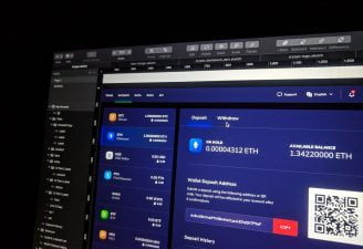 A cryptocurrency trading website opened