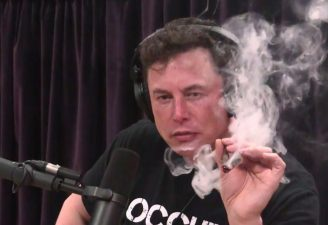 Elon Musk smoking weed on Joe Rogan show