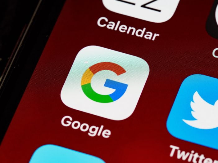 Google search icon on iOS