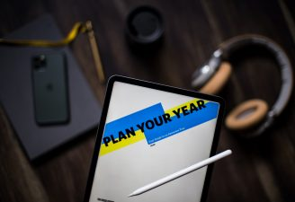 Plan your new year written on an iPad Pro