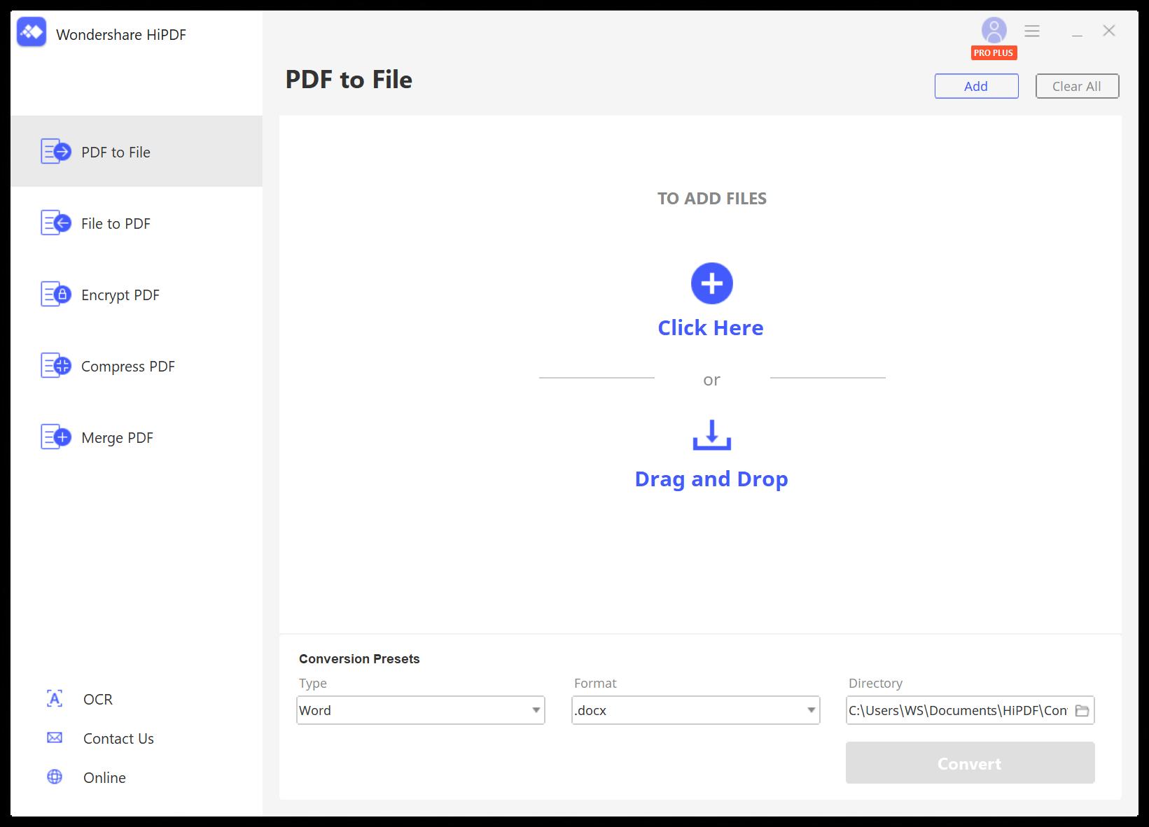 PDF to File page