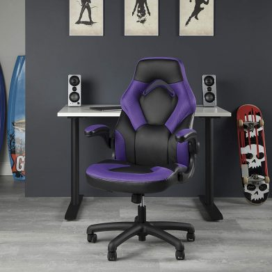 OFM ESS Collection GAMING CHAIR PURPLE, Racing Style