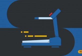 An illustration of a treadmill