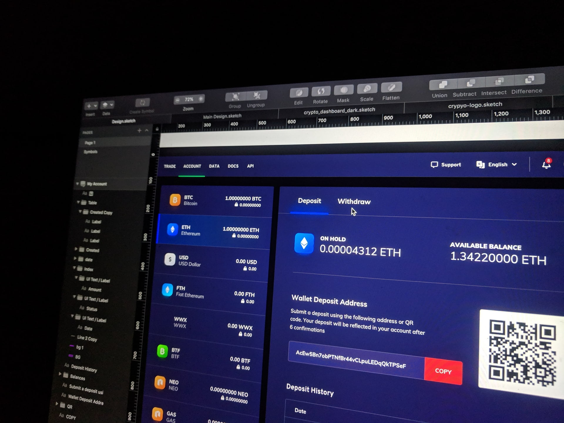 A screenshot of crypto forum online market