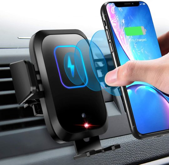 FoPcc Fast Charging Wireless Car Charger Mount