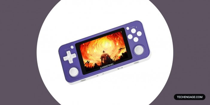 An Image of Anbernic Portable Gaming Player Console RG351P Handheld Game Console