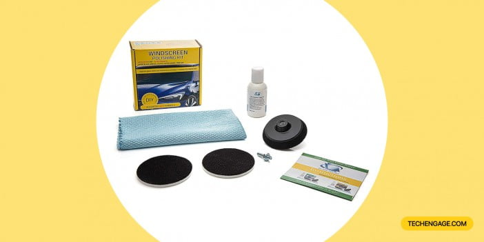 GLASS POLISH 21005 DIY Windshield Polishing Kit, Automotive Glass Polishing Solution
