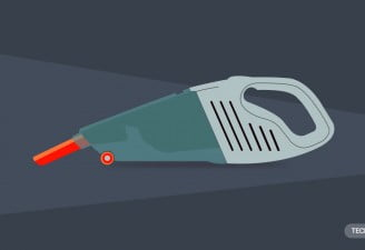 An illustration of a car vacuum cleaner
