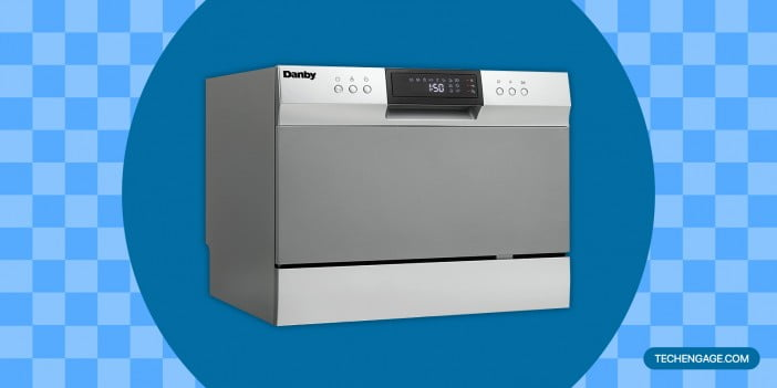 Danby DDW631SDB Countertop Dishwasher with 6 place Settings and Silverware Basket