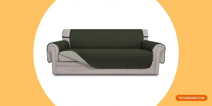 Easy-Going Sofa Slipcover Reversible Sofa Cover Water Resistant Couch Cover Furniture Protector with Elastic Straps