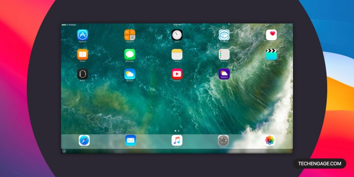 A Screenshot of iPadian iOS simulator