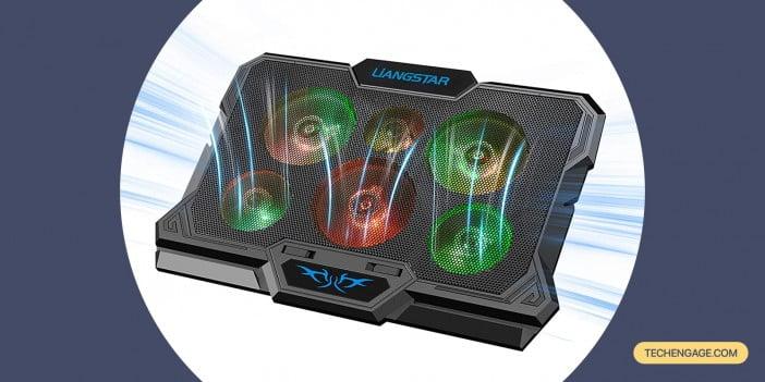 Laptop Cooling Pad, Laptop Cooler with 6 Quiet Fans