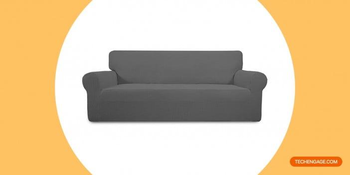 PureFit Stretch Sofa Slipcover – Spandex Jacquard Non-Slip Soft Couch Sofa Cover