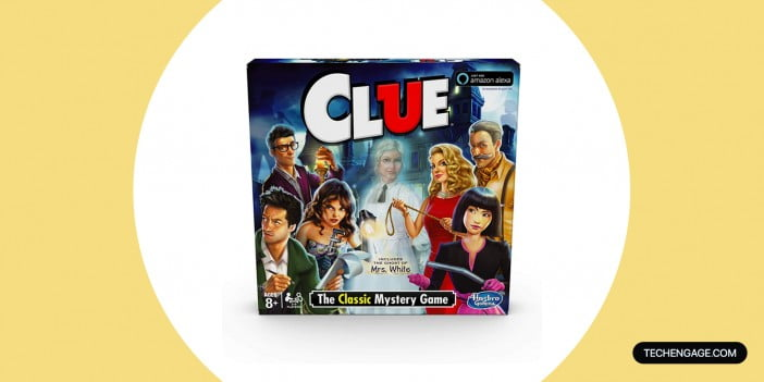 An Image of Hasbro Clue Game; Includes The Ghost Of Mrs. White