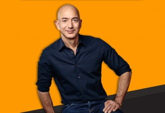 An Image of Jeff Bezos who steps down
