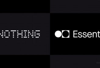 The company logos of Nothing and Essential