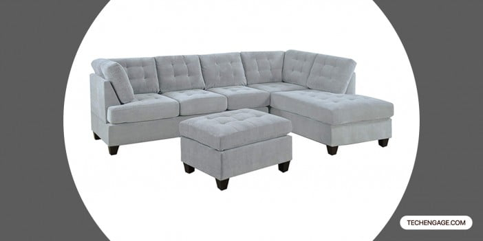 Casa Andrea Milano 3 Piece Modern Tufted Sectional Sofa
