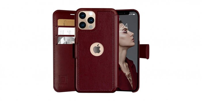 An image of LUPA iPhone 12/12 Pro Faux Leather Flip Wallet Case