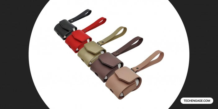 MODOS LOGICOS AirPods PU Leather Case with Wrist Strap