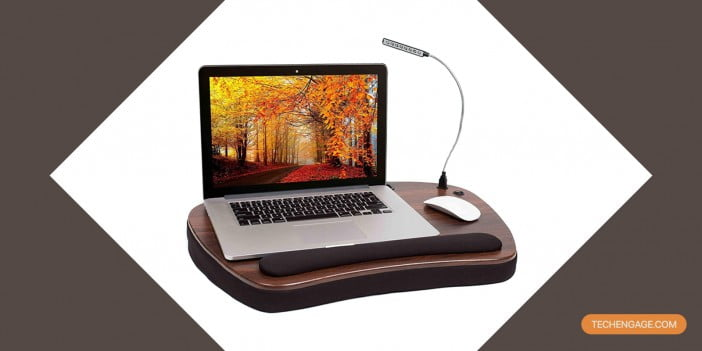 An Image of Sofia Sam oversized memory foam lapdesk with usb light