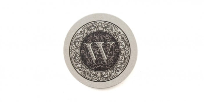 An Image of Thirstystone-absorbent-monogram-sandstone-coaster-set-letter-w