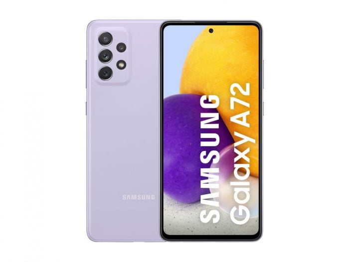 An image of Samsung Galaxy A72 revealed by Evan Blass