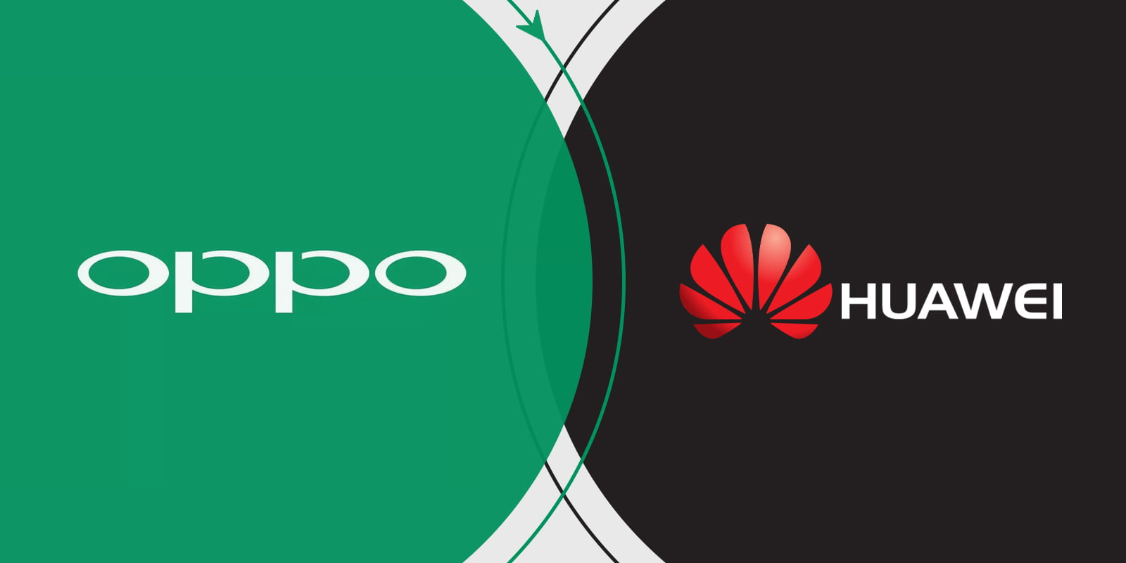 An Image comprising Oppo and Huawei logos