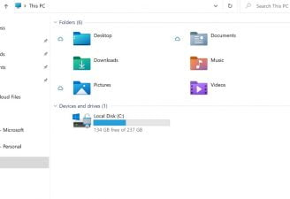 A Screenshot of new icons of file explorer folder in windows 10