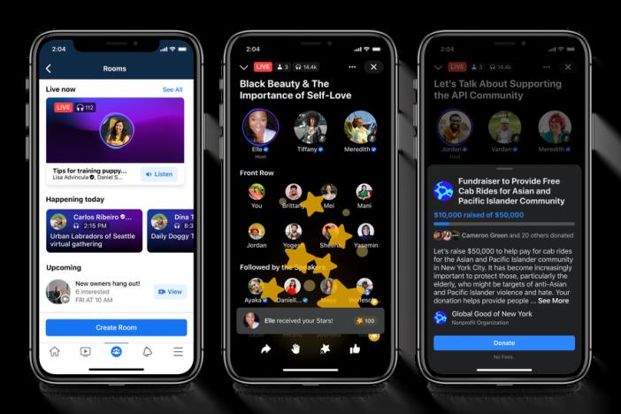 Live Audio Rooms feature in Facebook