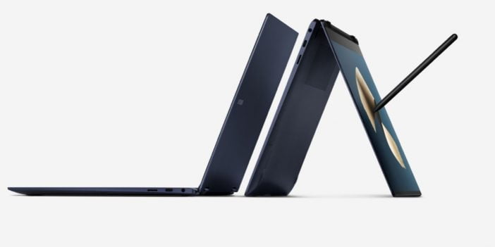 An Image of Samsung Galaxy Book Pro 360 in bended form