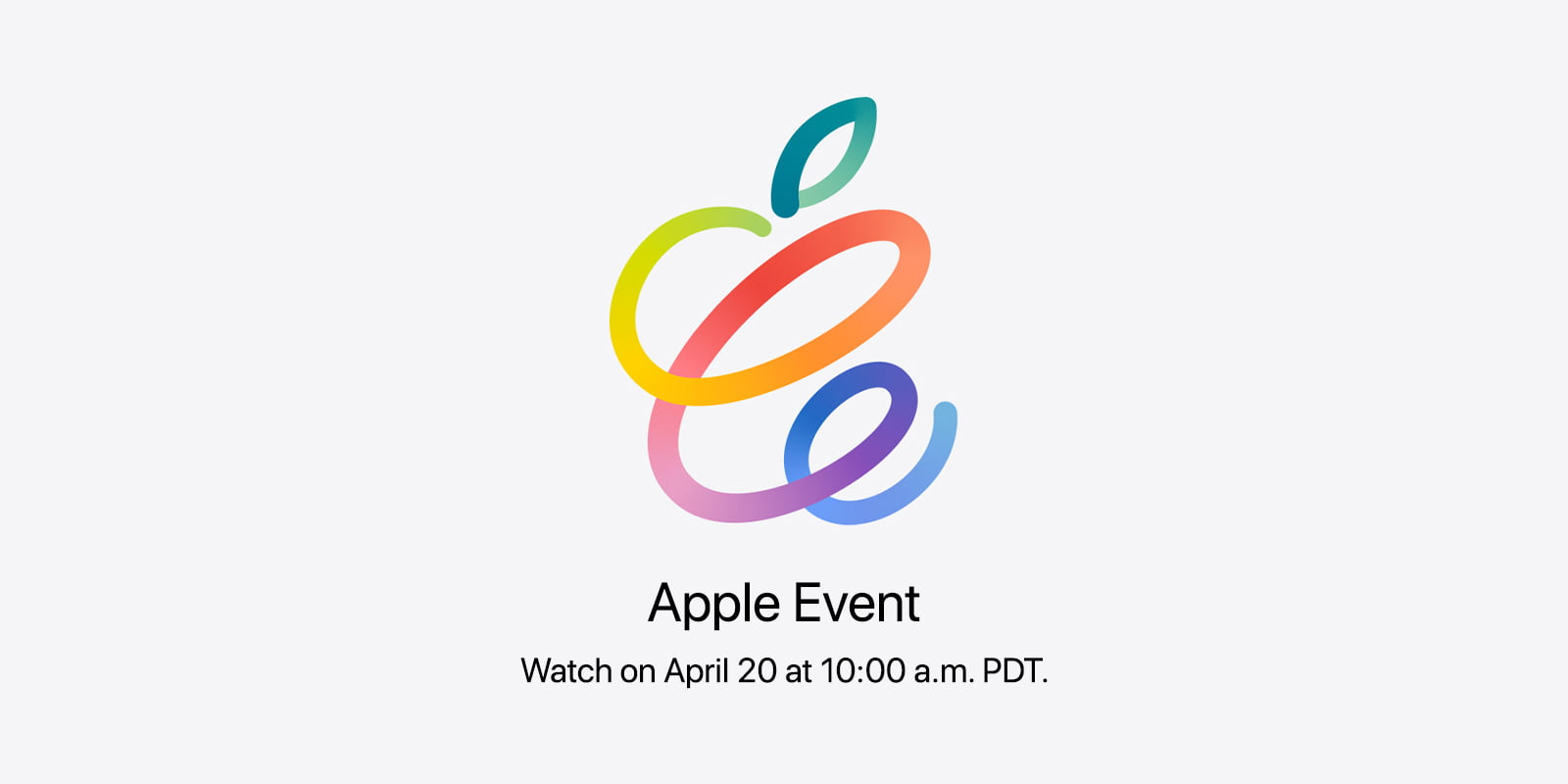 Apple confirms its next event on April 20