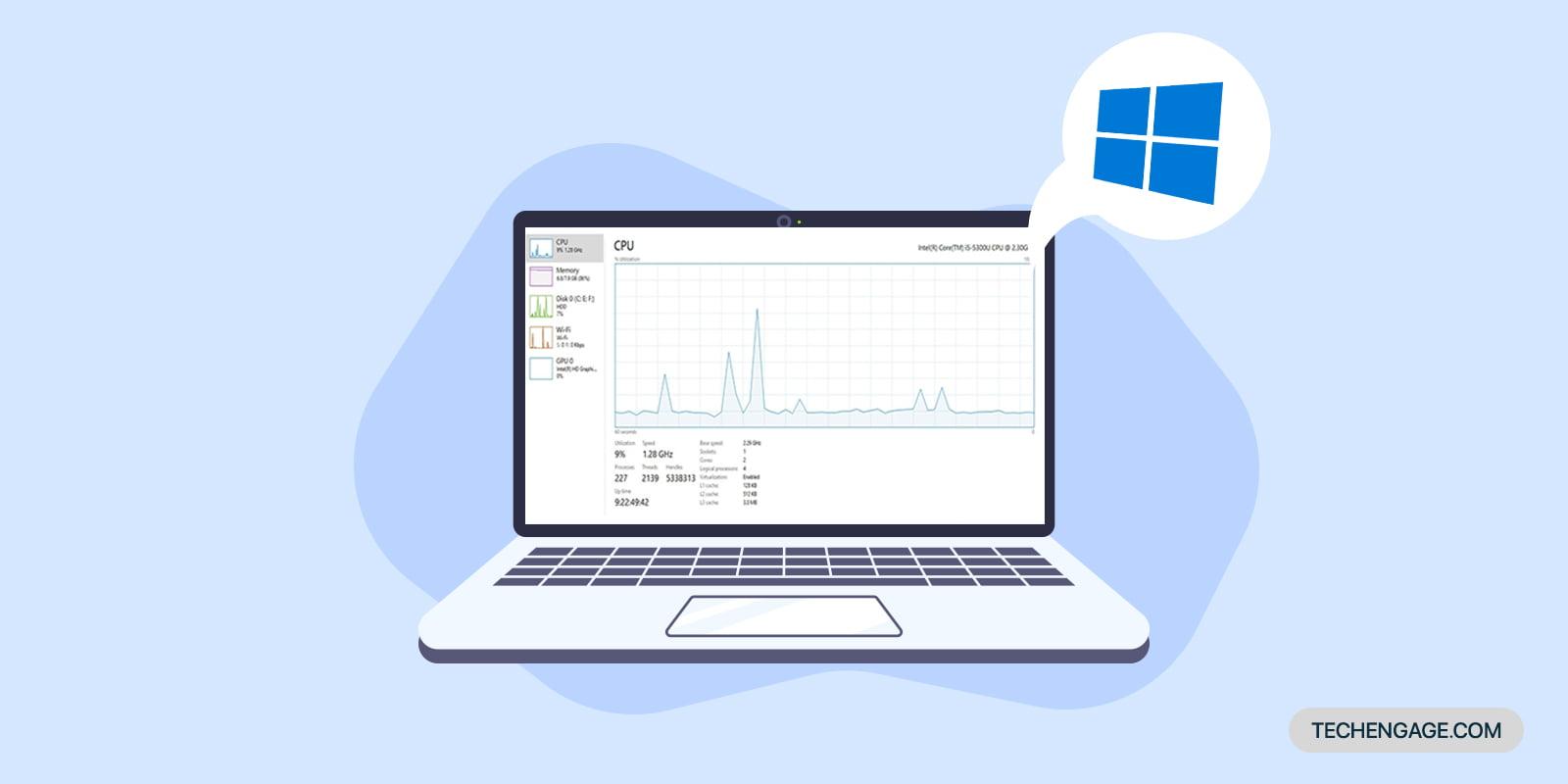 How to display hidden performance panel on Windows 10