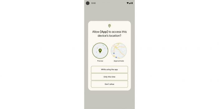 The screenshot of Location feature