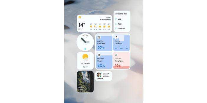 The screenshot of redesigned widgets