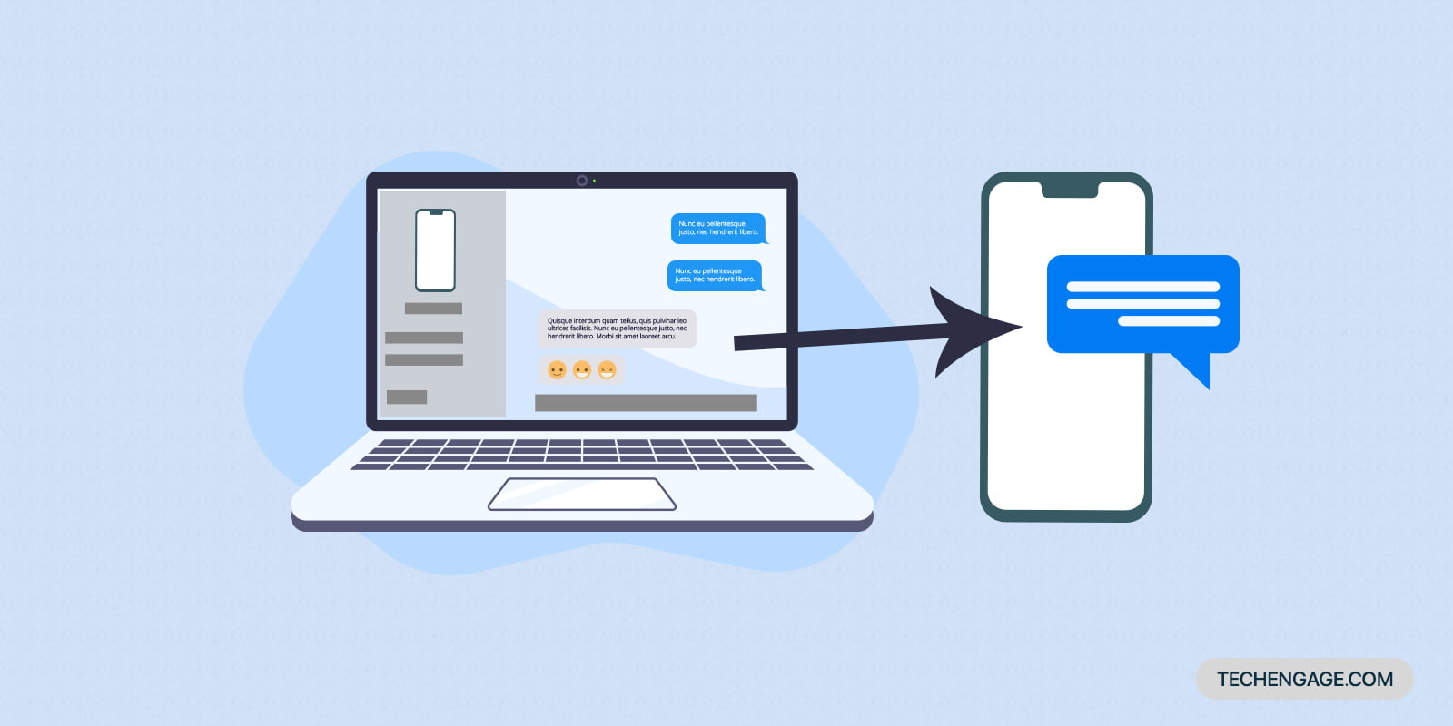 How to send (and receive) messages on a laptop or PC