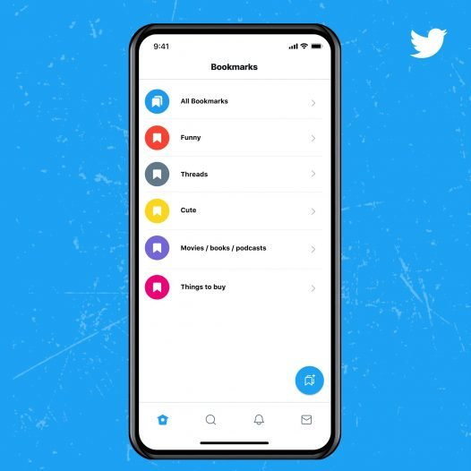 Screenshot of Bookmark feature in twitter blue service